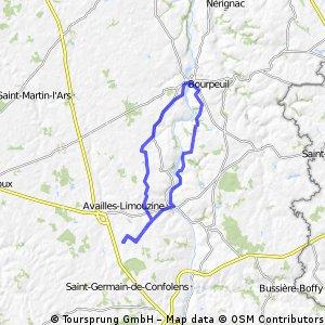 Le grand Villars rondje via Bourpeuil
