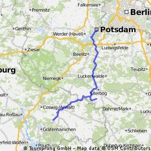 Potsdam - Dobbrikow - Oehna - Berwitz