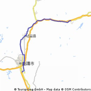 Cycling Routes And Bike Maps In And Around Qujing Bikemap Your - Qujing map