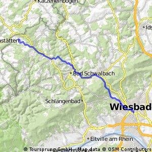 Wiesbaden Bahnhofstr. - Grebenroth - durch den Wald
