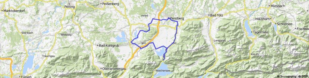 Lange Radrunde durch Riegsee