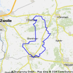 thuis-Rechteren-Vilsteren-L'veld-M'heem-Raalte-thuis 54km