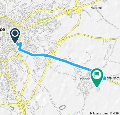 Brief ride from Lecce to Lizzanello