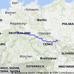 Vierbach - Domasov 723 km 3570 hm