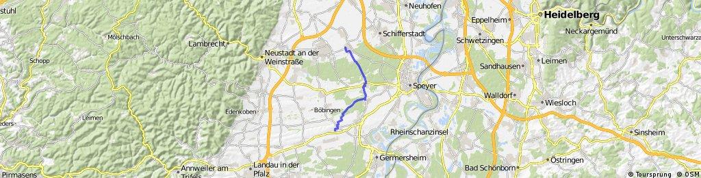 Weingarten (Pfalz) - Böhl Iggelheim (Pfalz), Route 1