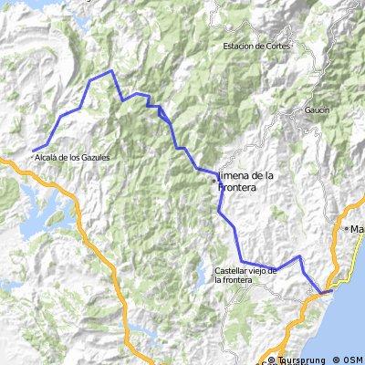 Sotogrande - Puerto Galiz - Alcala de los Gazules - Sotogrande
