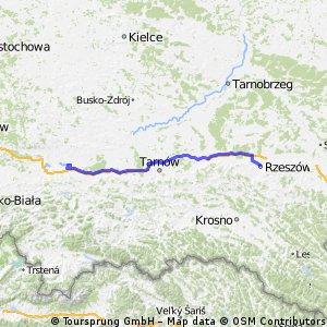 73 transfer Rzeszow Wieliczka-Brzegi start 5 etap
