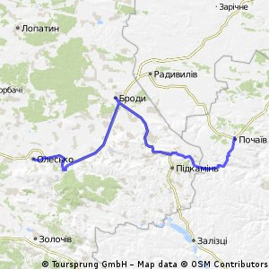 Вишиваний шлях: Олесько-Броди-Почаїв