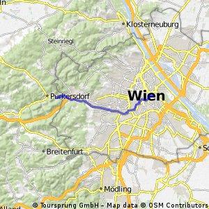 bike tour from Vienna to Purkersdorf