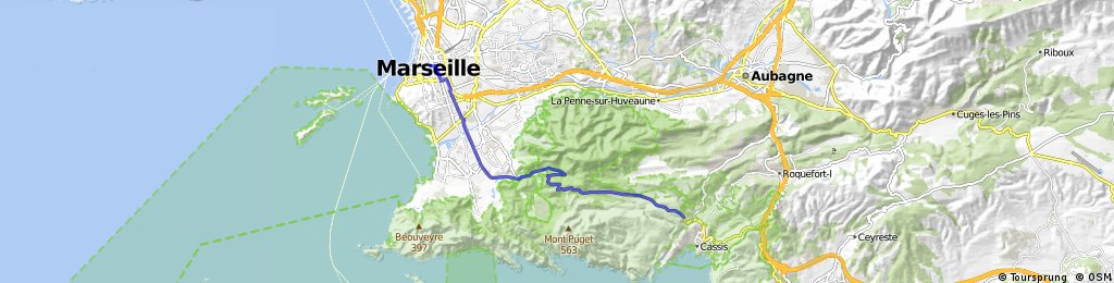 ride from Cassis to Marseille