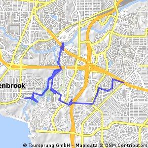 bike tour though Benbrook park