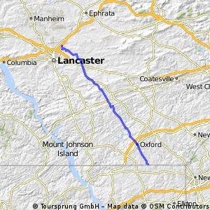 Long bike tour from Manheim Township to Elk