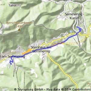 Radfahren Semmering 2Tag Teilstrecke 9km 110hm