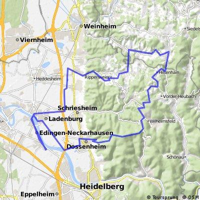 Edingen-Weißer Stein-Lampenhain, Gorxheimer Tal-Edingen