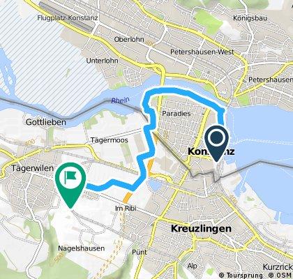 Schnelle Ausfahrt von Konstanz nach Tägerwilen