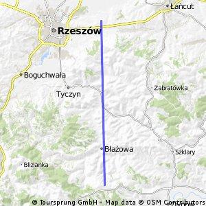 Quick ride from Błażowa Rzeszowska to Krasne