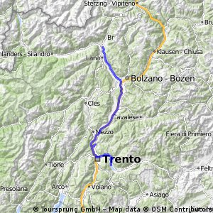 Valcanover - Trento - Meran