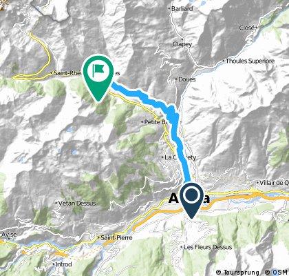 Alpi 2016: prologo Aosta - Etroubles
