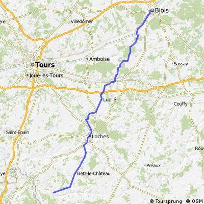 7. Etappe Blois nach Le Grand Pressigny ca. 100km 24.06.