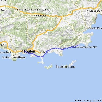 Cycling routes and bike maps in and around Toulon Bikemap Your