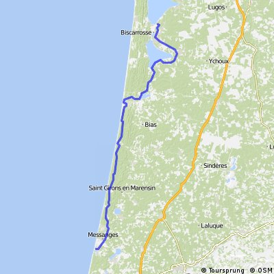 13. Etappe Biscarrosse Vieux-Boucou ca 98 km 30.06.