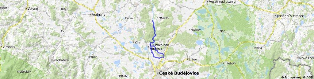 Lengthy bike tour through Borek