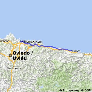 19. Etappe Llanes - Gijon ca. 96 km 06.07.