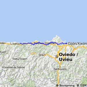 20. Etappe Gijon - Luarca ca 102 km 07.07.