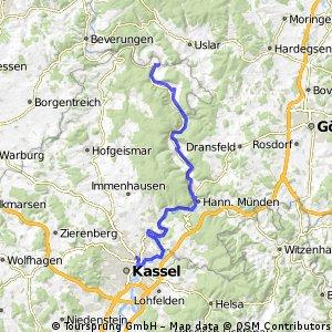 2016 04 Winterberg - Eder - Fulda - Weser - Radreise