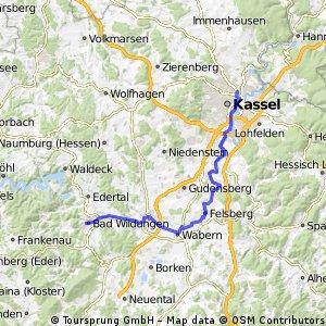 2016 03 Winterberg - Eder - Fulda - Weser - Radreise