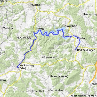2016 02 Winterberg - Eder - Fulda - Weser - Radreise
