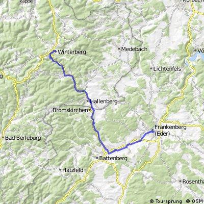2016 01 Winterberg - Eder - Fulda - Weser - Radreise
