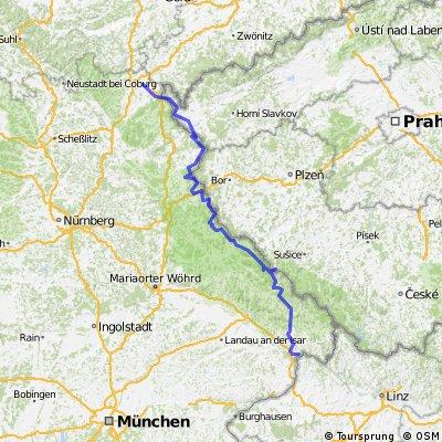 """ADFC-Hof: Radreise """"Grünes Dach"""" Hof - Passau"""