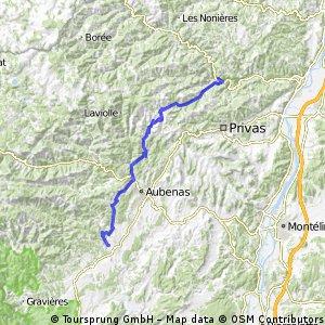 2016 Ride Day 108 - St-Sauveur-de-Montagut to Largentière