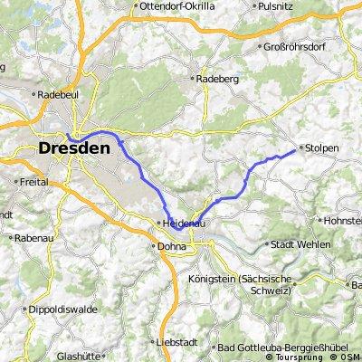 Dresden-Stolpen über Liebethal