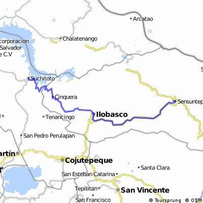route 8 : Suchitoto - Sensuntepeque