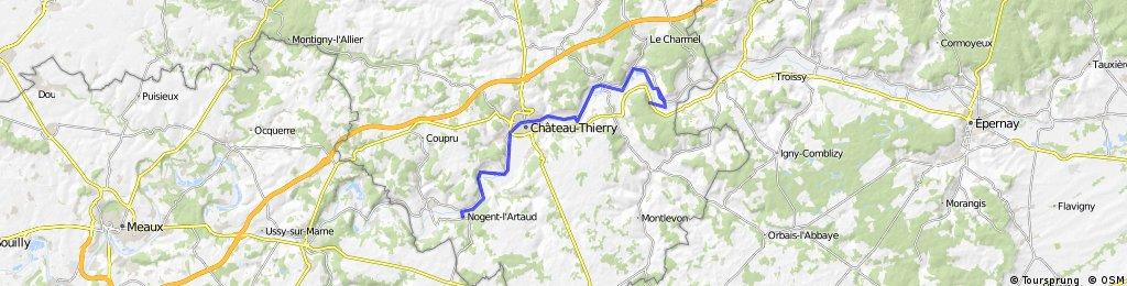 Chateau Noger Artaud terug 69km