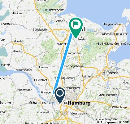 Lange Radrunde von Hamburg nach Kiel