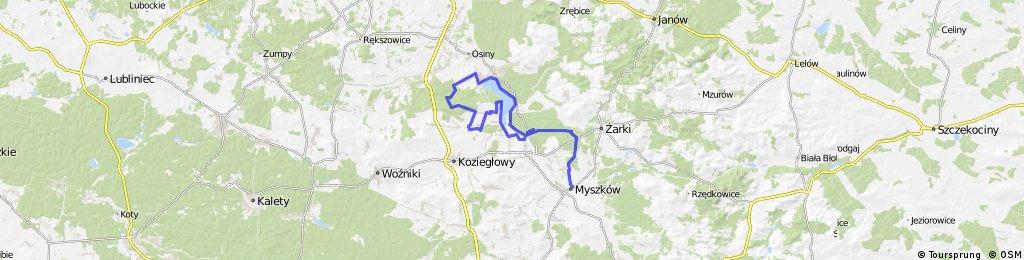 Żarki - Poraj - Rosochacz - Myszków