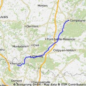 van Route naar Comp