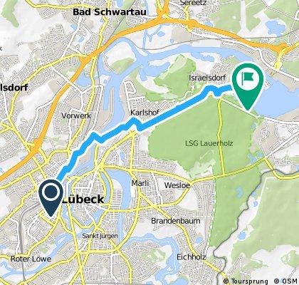 Von Lübeck Hbf nach Campingplatz Ivendorf Teil 1