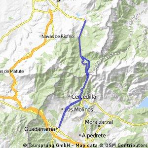 La Granja Navacerrada Guadarrama y vuelta