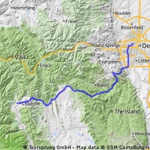 Edgewater to Leadville