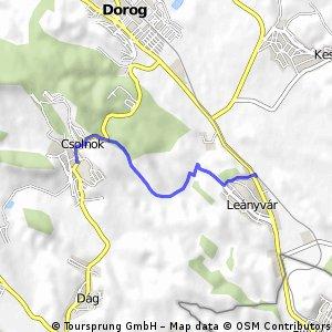 Brief ride from Leányvár to Csolnok