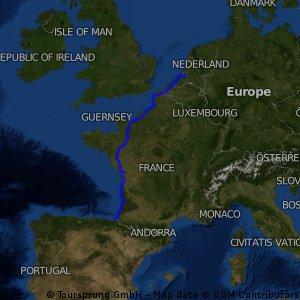 Rotterdam to San Sebastian