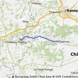 Epernay en terug 72km