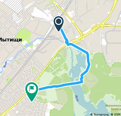 Brief bike tour from Pastviny to Mytishchi