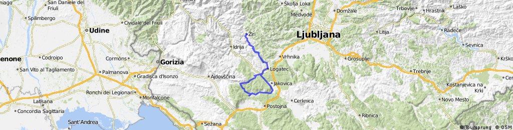 2016 Žiri - Logatec - Hrušica - Šredjama - Logatec - Žiri