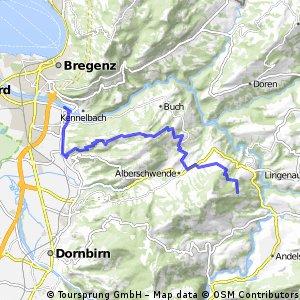 Transalp 2016 Teil 1 Bregenz nach Kaltenbrunnen