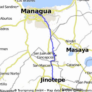 Route 16 : Managua - Jinotepe